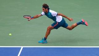 So marschierte Federer in die 2. Runde