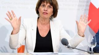 Nova lescha da medias: Leuthard è sceptica envers cumissiun