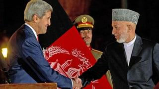 US-Truppen in Afghanistan: Karsai und Kerry nähern sich an