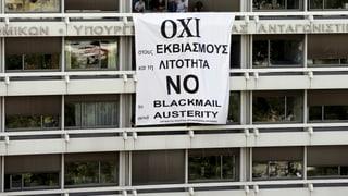 Griechische Regierung bleibt beim «Nein» für das Referendum