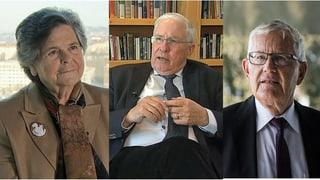 Lesen Sie hier, was die alt Bundesräte Dreifuss, Blocher und Villiger zum Rahmenabkommen sagen.