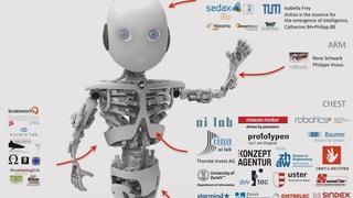 Roboter auf Spendenfang