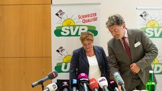 La PPS Grischun cun Magdalena Martullo-Blocher e Heinz Brand