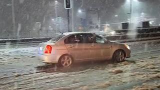Schneesturm legt Santiago de Chile lahm