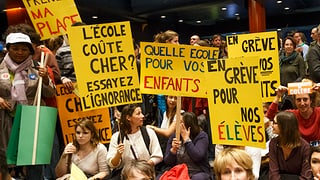 In Genf streiken Polizisten und Lehrer