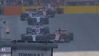 Aufreger in Baku: Vettel rempelt Hamilton