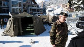 Schweizer Armee bleibt am WEF präsent