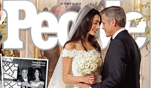 «Ja» auch zur Mode: Amal Alamuddin heiratete in Design-Robe
