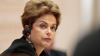Der Stuhl der brasilianischen Präsidentin Rousseff wackelt