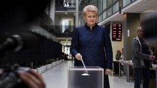 Litauen wählt ein neues Staatsoberhaupt