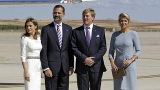 In Spanien: Herzlicher Empfang für Willem-Alexander und Máxima