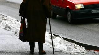 Ältere Fussgänger sind häufiger in tödliche Unfälle verwickelt