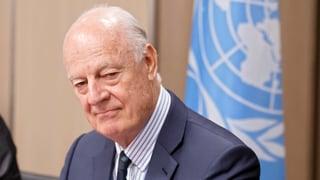 «Kritik an de Misturas Alibi-Rolle wächst»: Nur wenn die USA und Russland kooperierten, habe der Friedensvermittler eine Chance, sagt Experte Andreas Zumach.