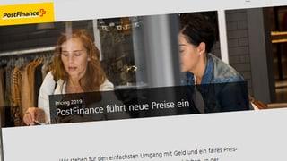 Fragen, Frust und Kritik wegen Postfinance-Gebühren