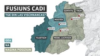 Cadi: Resalvas envers ina fusiun da vischnancas