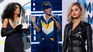Diana Ross, Bruno Mars und Selena Gomez gefeiert