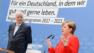 Merkel und Seehofer versprechen Wohlstand