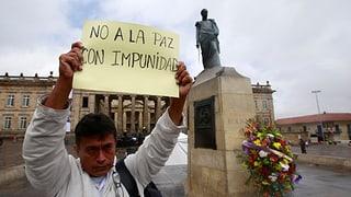 Nicht alle Kolumbianer sind zufrieden