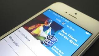 «Kapo-App» für dringende Fahndungen und Polizei-Meldungen