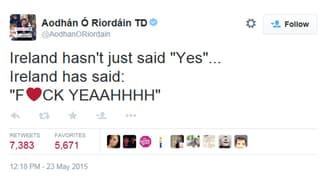 #IrelandVoteYes: So feiern die Befürworter das Ja zur Homo-Ehe