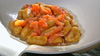 Kartoffelgnocchi an Bier-Lachs-Sauce