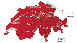 80. Tour de Suisse – der Etappenplan