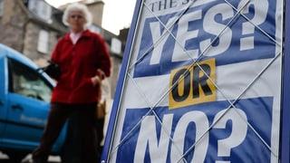Vor Schottland-Referendum: Leichte Nein-Tendenz