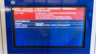 Die SBB will bei Pannen besser informieren