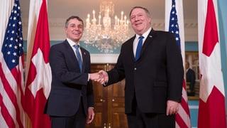 Zwei Tage lang war Ignazio Cassis in Washington. Freihandel, Iran und Venezuela gehörten zu den Gesprächsthemen.