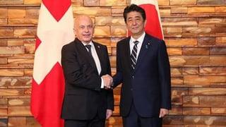 Schweiz und Japan wollen Wirtschaftsbeziehungen verstärken