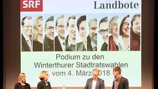 Das Stadtrats-Podium mit allen 11 Kandidatinnen und Kandidaten – die besten Ausschnitte zum Nachhören