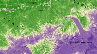 Satellitenbilder zeigen Val Bondasca vor und nach der Zerstörung