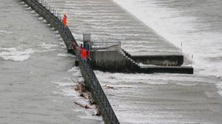 Auf die Orkanböen folgt das Hochwasser