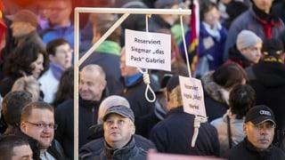 Merkel am Galgen: Juristisches Nachspiel zu Pegida-Demo