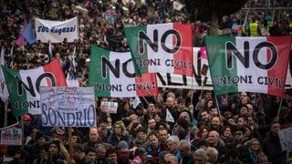 Partnerschaftsgesetz spaltet Italien