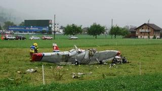 Untersuchung zum Flugzeugabsturz bei Sarnen läuft