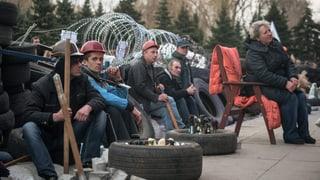 Ukrainischer Präsident geht auf pro-russische Demonstranten zu