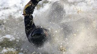 Ein britischer Soldat verliert auf dem Cresta Run seinen Fuss