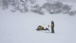 Grosslawine reisst Skifahrer am Pizol von den Skiern