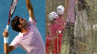 Sportskanonen: Charlene Riva und Myla Rose Federer ganz der Papa