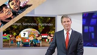Wovon spricht der Nachrichtensprecher da?