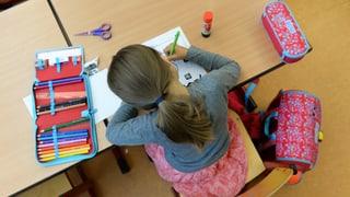 Betg damain lecziuns da rumantsch a la scola primara da Trin