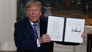 Trump verkündet Rückzug aus Atomabkommen mit dem Iran