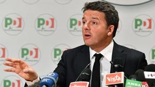 Il schef da partida Matteo Renzi sa retira