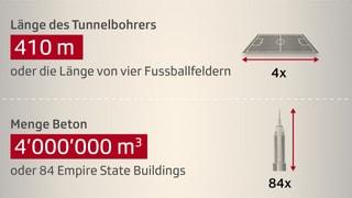 Gotthard-Grafik: Zahlen zum Jahrhundert-Bauwerk