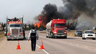 Feuer in Kanada breitet sich weniger rasch aus als befürchtet