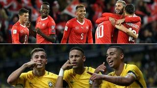 Die Schweiz trifft an der WM auf Brasilien!