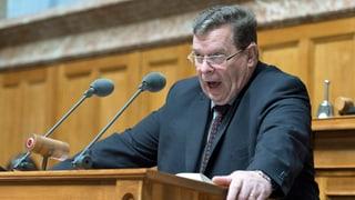 Nach 24 Jahren im Nationalrat: Toni Bortoluzzi sagt Ade