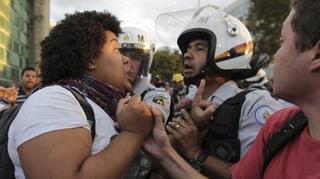 Proteste statt Party: Brasilianer wollen weniger WM