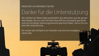 Schumachers Familie sagt «Danke»